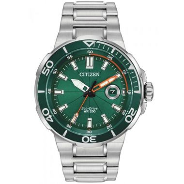 Citizen Eco-Drive Mens Sport Green Watch 47mm