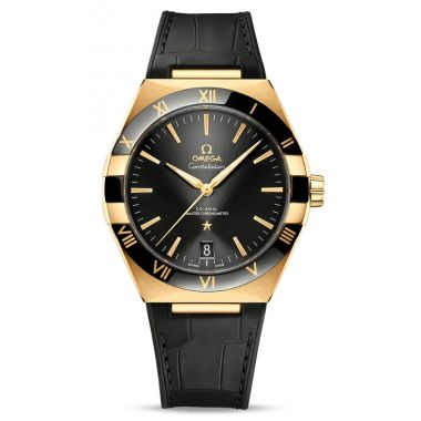 Omega Constellation Co-Axial Master Chronometer 18ct Gold Black Ceramic 41mm
