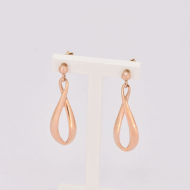 Long Figure of 8 9ct Rose Gold Earrings