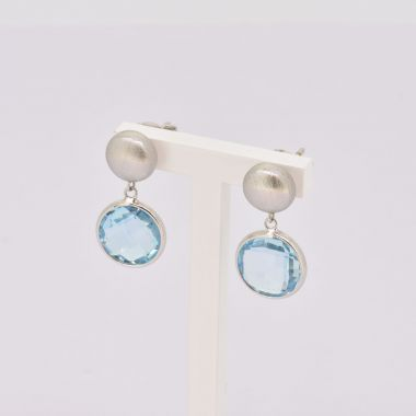 Topaz Drop 9ct White Gold Earrings