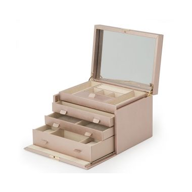 Wolf Palermo Large Jewellery Box - Rose Gold