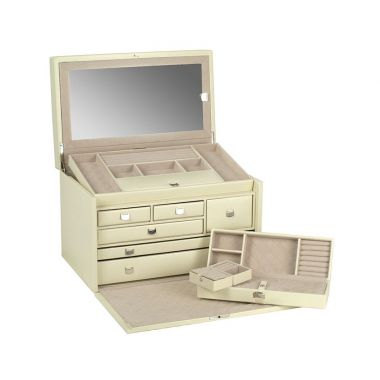 Wolf London Large Jewellery Box - Cream
