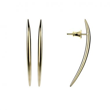 Shaun Leane Yellow Gold Vermeil Quill Long Stud Earrings