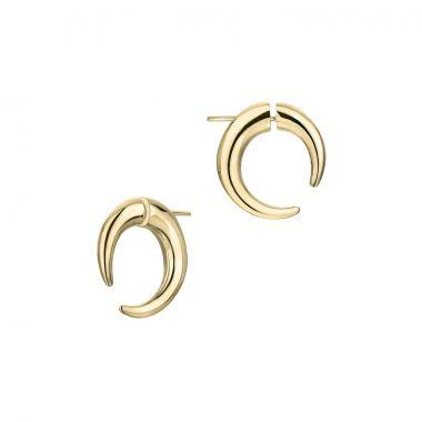 Shaun Leane Yellow Gold Vermeil Small Hoop Talon Earrings