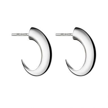 Shaun Leane Silver Cat Claw Medium Hoop Earrings