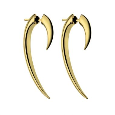 Shaun Leane Yellow Gold Vermeil Hook Earrings