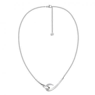 Shaun Leane Silver Diamond Hook Pendant