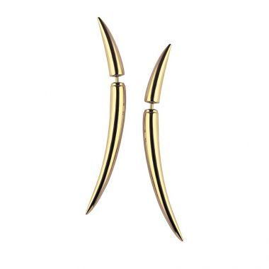 Shaun Leane Yellow Gold Vermeil Quill Earrings