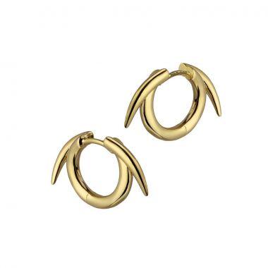 Shaun Leane Yellow Gold Vermeil Thorn Hoop Earrings
