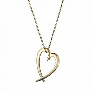 Shaun Leane Yellow Gold Vermeil Hooked Heart Pendant