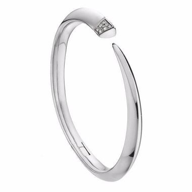 Shaun Leane Silver Diamond Tusk Bangle