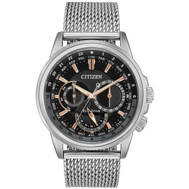 Citizen Eco-Drive Mens Steel Calendrier 44mm