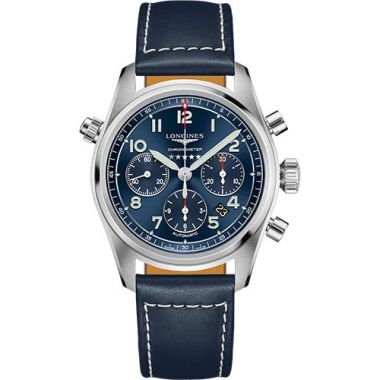 Longines Spirit Automatic Chronometer Chronograph Blue Strap 42mm