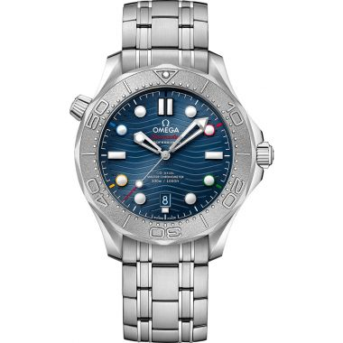"""Omega Seamaster Diver 300M Master Chronometer """"Beijing 2022"""" Special Edition Watch"""