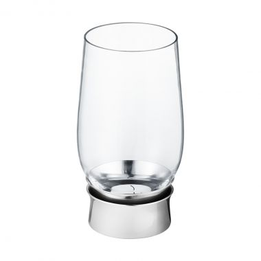 Georg Jensen Lumis tealight candleholder - Mouth-blown glass, Stainless steel