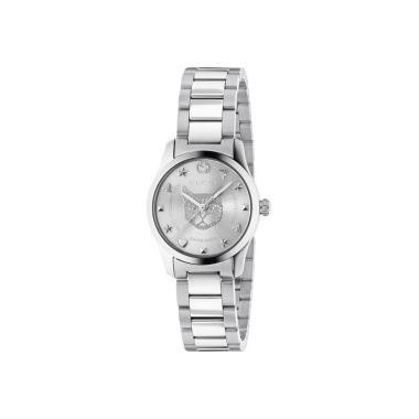 Gucci G-Timeless Silver Dial Cat 27mm YA126595