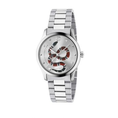 Gucci G-Timeless Steel Snake Dial 38mm