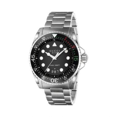 Gucci Dive XL Stainless Steel Watch 45mm YA136208A