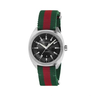 Gucci GG2570 Stainless Steel and Nylon Strap 41mm