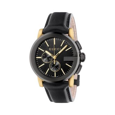Gucci G-Chrono Black & Gold Watch 44mm
