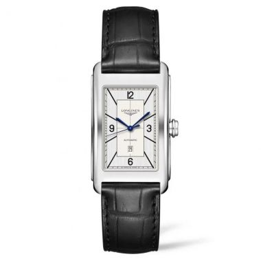 Longines DolceVita Sector Silver Dial & Black Leather