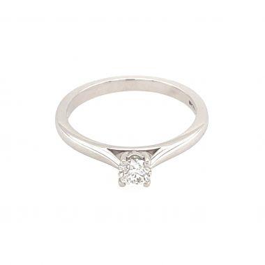 White Gold 0.30ct Round Diamond Ring
