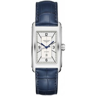 Longines DolceVita Sector Silver Dial & Blue Leather