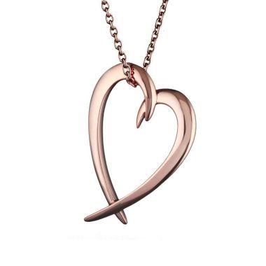 Shaun Leane Rose Gold Vermeil Hooked Heart Pendant