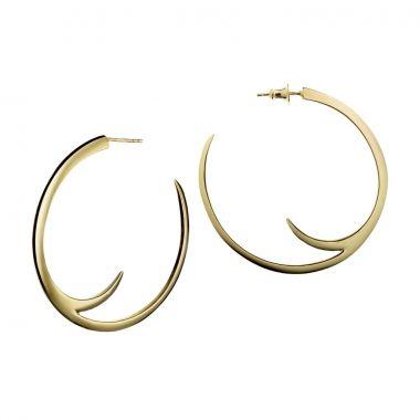 Shaun Leane Yellow Gold Vermeil Cat Claw Large Hoop Earrings