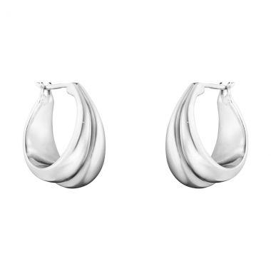 Georg Jensen Curve Earrings, Medium, Sterling Silver