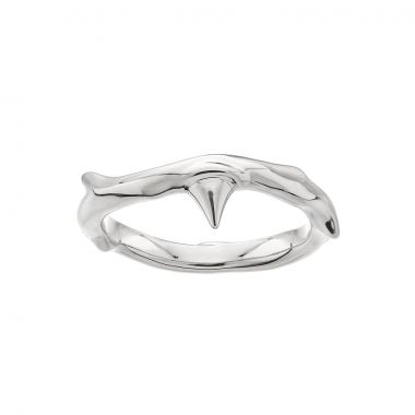 Shaun Leane Silver Rose Thorn Band Ring