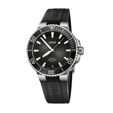 Oris Aquis Date Calibre 400 Black Rubber Watch 41.5mm