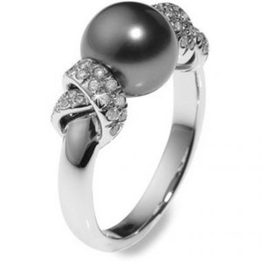 Mikimoto Moderna 8 Black South Sea Ring