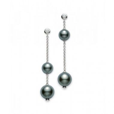 Mikimoto Pearls in Motion Black South Sea Earrings