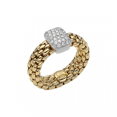 Fope Flex'It Vendome 18ct Yellow Gold Diamond Ring