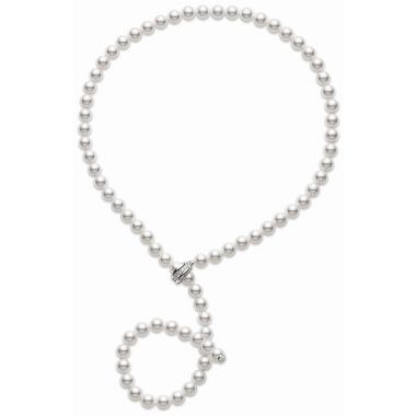 Mikimoto White Gold Lariat Diamond Necklace