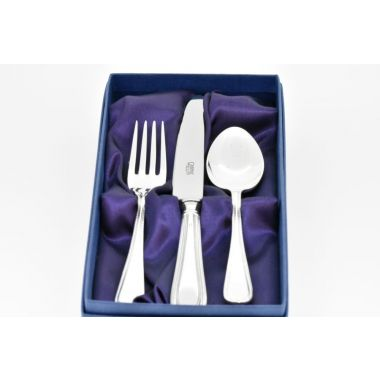 Childrens Bead Silver Cutlery Set