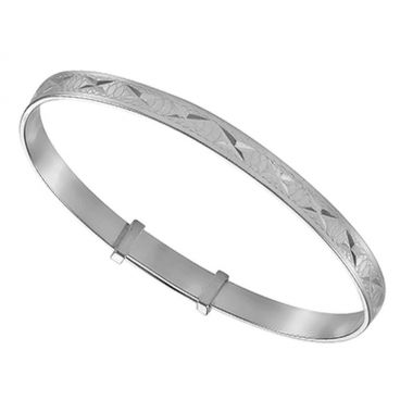 Silver Babys Bangle Engraved