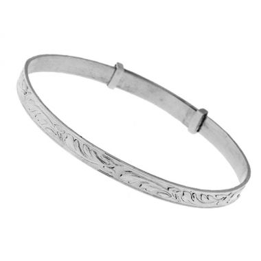 Silver Expandable Babys Bangle