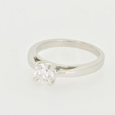 White Gold 0.67ct Round Diamond Ring