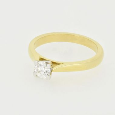 Yellow Gold 0.40ct Round Diamond Ring
