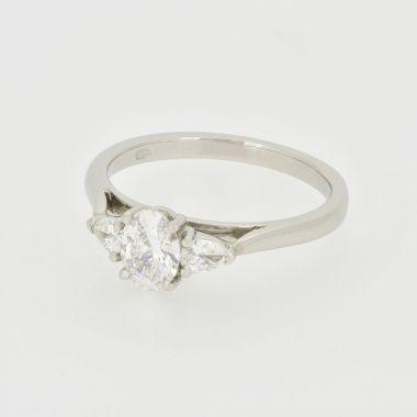 3 Stone Platinum Diamond Ring