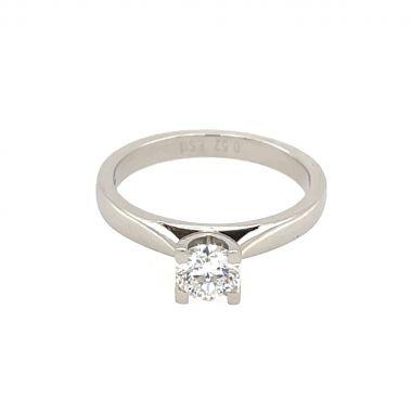 Platinum 0.52ct Round Diamond Ring