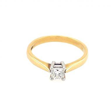 Yellow Gold 0.32ct Princess Diamond Ring
