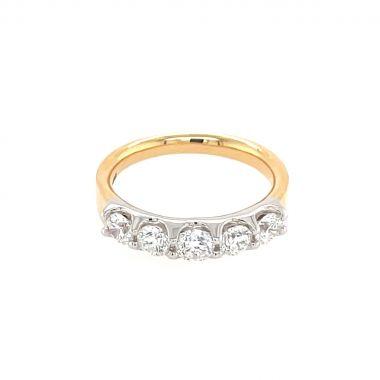 5 Stone Diamond 18ct Ring