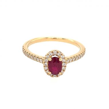 Ruby & Diamond 18ct Cluster Ring