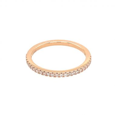 Diamond 18ct Rose Eternity Ring