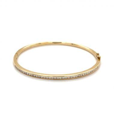 Diamond 9ct Gold Bangle