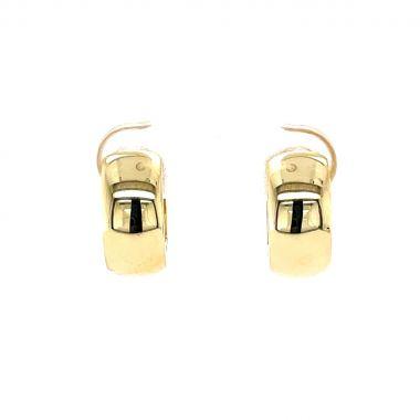Wide 9ct Yellow Gold Hoop Earrings