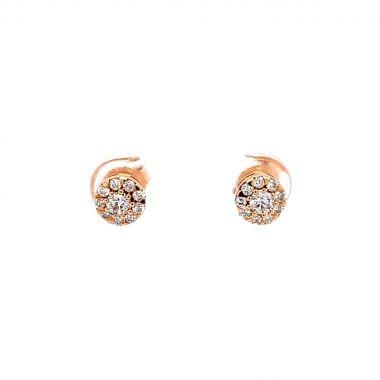 Diamond Rose Cluster 18ct Earrings